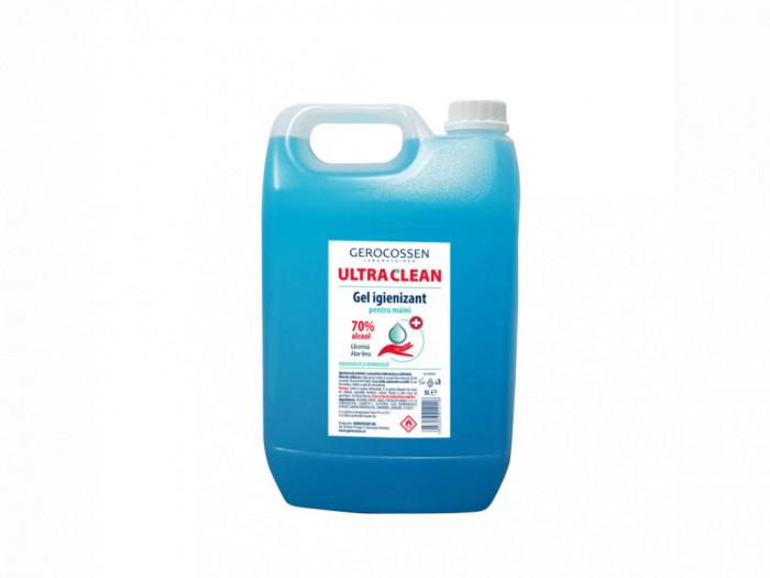 Gel igienizant pentru maini 70% alcool ULTRA CLEAN 5 litri, Albastru