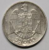 250 LEI 1935 . DETALII EXCELENTE . CU CONTRAMARCI ., Argint