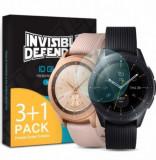 Folie Protectie Sticla Securizata Ringke ID Glass 8809628565326 pentru Samsung Galaxy Watch 42mm, 3+1 (Transparent)