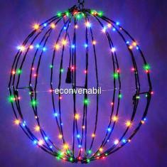 Glob luminos Craciun 240LED RGB 50cm Multicolor Prelungibil 1001M CL