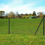 Cumpara ieftin Euro gard, gri, 25 x 0,8 m, oțel