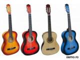 Chitara de lemn pentru copii marime 60 cm diverse culori