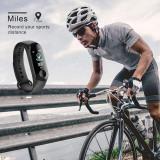 Bratara fitness inteligenta M3, cu monitorizare puls, distanta parcursa, negru