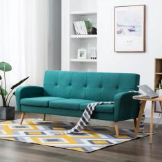 Canapea de 3 persoane, material textil, verde