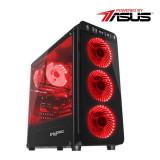 Cumpara ieftin Sistem Gaming Powered by ASUS Cyber X Intel Core i3-9100F 3.6Ghz 8GB DDR4 SSD 240GB + HDD 1TB ASUS nVidia GeForce GTX 1050 Ti Cerberus O4G 4GB DDR5 12