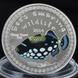 Burundi 5000 franci 2014 UNC Triggerfish UV 40mm, Africa