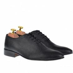 Pantofi barbati lux - eleganti din piele naturala - 024CROCOM