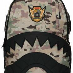 Rucsac Sprayground, Multicamo Rubber Black Shark, Camuflaj + Sticker Cadou, Unisex