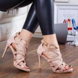 Sandale Dariami roz elegante -rl