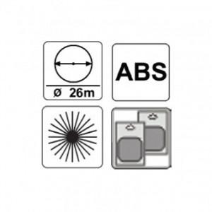 "Aspersor rotativ cu 3 brate 1/2"" ABS, TopGarden 380945"