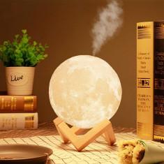 Lampa 3D Moon cu Umidificator by Borealy