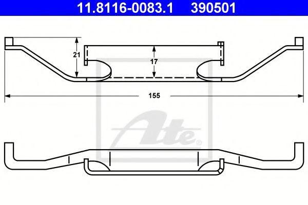 Arc, etrier frana BMW Seria 3 Cabriolet (E46) (2000 - 2007) ATE 11.8116-0083.1