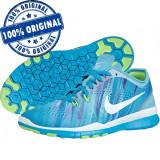 Pantofi sport Nike Free 5.0 pentru femei - adidasi originali - alergare, 37.5, Albastru, Textil