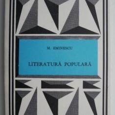 Literatura populara – Mihai Eminescu