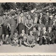 Fotografie premilitar pusca cercetasi strajeri anii 1930 poza veche