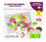 Set La joaca prin Europa - Puzzle Harta Europei si Puzzle Harta Romaniei
