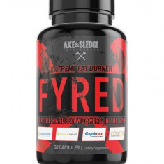 AXE & SLEDGE Supplements Fyred Extreme Fat Burner, 60 capsule