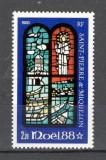 St.Pierre si Miquelon.1988 Nasterea Domnului-Vitraliu  SS.53, Nestampilat