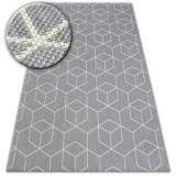 Covor sisal Flat 48655/637 Cuburi 3D, 200x290 cm, Dreptunghi