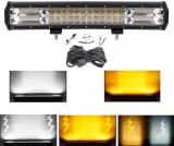 Proiector led bar offroad,atv,camion,utilaje 44cm 252w cu 2 culori si strobo