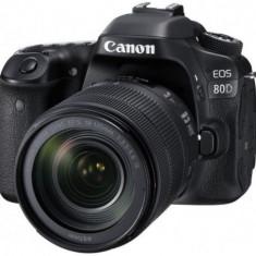 Aparat Foto DSLR Canon EOS 80D + Obiectiv EF-S 18-135mm IS, 24 MP, Full HD, WiFi (Negru)
