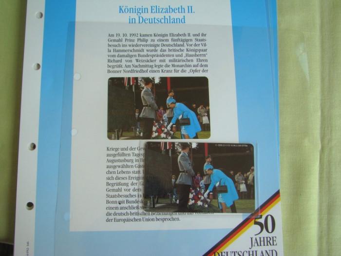 """3 Cartele Telefonice """"50 Jahre Deutschland"""" - Exponate NOI / 11"""