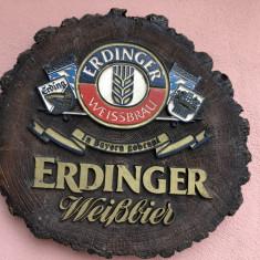 Reclama bere germana Erdinger,model trunchi de copac in basorelief