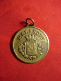 Placheta Malacoff USM - Echipa de Fotbal Franta ,d=3cm ,bronz, Europa