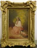 Ludovic Basarab (1866-1933) Tiganca cu flori Florareasa 35/25cm (Bassarab) Ulei
