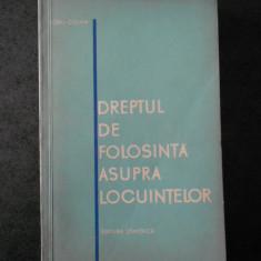 DORU COSMA - DREPTUL DE FOLOSINTA ASUPRA LOCUINTELOR