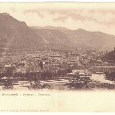 4617 - BRASOV, Panorama, Romania - DOUBLE old postcard - used - 1904, Circulata, Printata