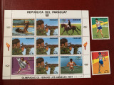 Paraguay - Timbre sport, jocurile olimpice 1984, nestampilate MNH, Nestampilat
