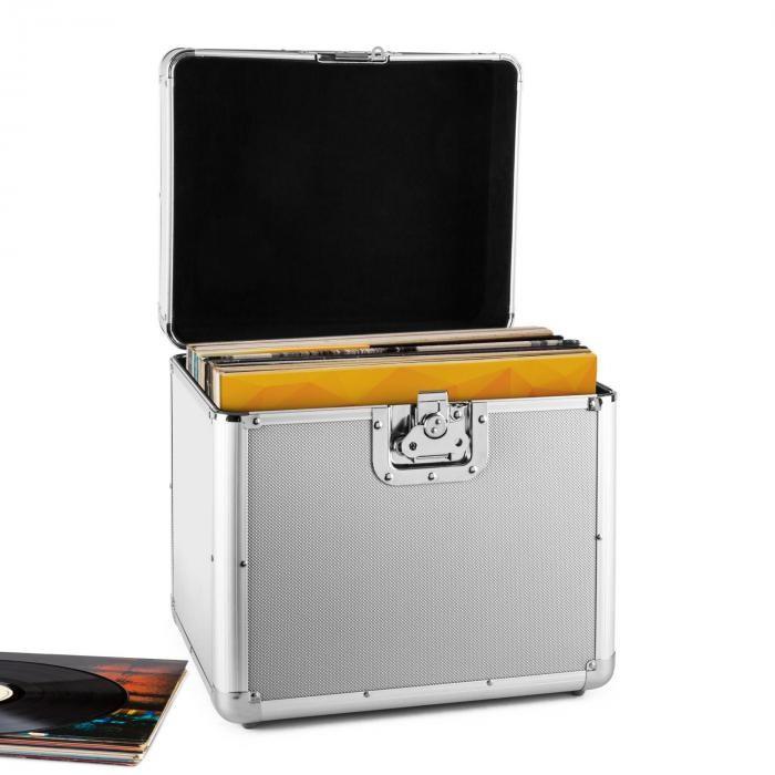 Resident DJ Timp Resident DJ placă de aluminiu capsulă valiză vinil LP dosarului 70 buc argintiu