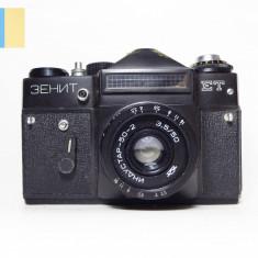 Zenit ET cu obiectiv Industar 50-2 50mm f/3.5 montura M42