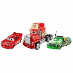 Cars 3 - Set 3 masinute Deluxe Mack, Fulger McQueen si Chick Hicks
