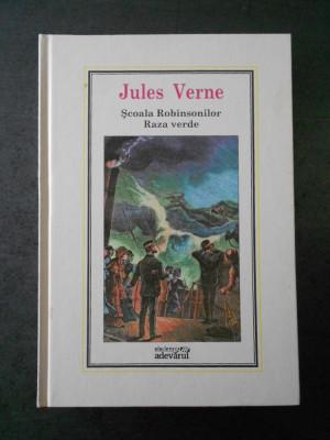 JULES VERNE - SCOALA ROBINSONILOR. RAZA VERDE (Adevarul, nr. 6) foto