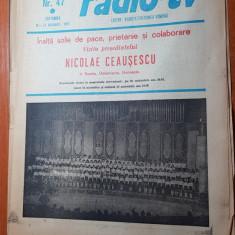 Revista radio-tv saptamana 16-22 noiembrie 1980