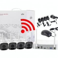 Camere supraveghere fara fir UNV de 2 MP cu transmisie prin WIFI si inregistrator NVR