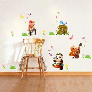 Sticker decorativ copii Muzicienii veseli