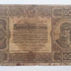 100 Korona 1920 Ungaria bancnota coroane