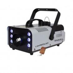 Masina profesionala de fum Ibiza, 900W, 6 LED-uri RGB, telecomanda