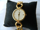 Ceas de dama elegant ROTARY placat cu aur cod R16, Quartz, Otel
