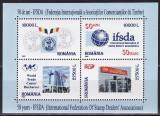 ROMANIA 2002  50 ANI I.S.F.D.A.   Bloc cu 4 timbre LP.1586 MNH**