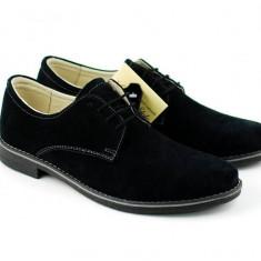 Pantofi barbati casual - eleganti din piele naturala intoarsa - Model Vero