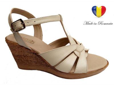 Sandale dama din piele naturala cu platforma - S15ELYB foto