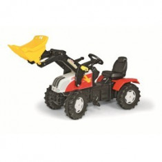 Tractor cu pedale Rolly Toys Steyer CVT cu cupa