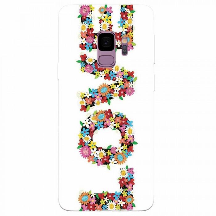 Husa silicon pentru Samsung S9, Love Made By Flowers