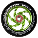 Roata Trotineta Bestial Wolf Twister 110mm + Abec 9 Black/Green