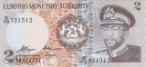 Bancnota Lesotho 2 Dolari 1979 - P1 UNC ( destul de rara )