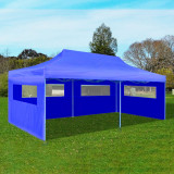Cort de petrecere pliabil de tip pop-up, albastru, 3 x 6 m